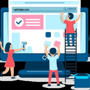 Net4italia Bergamo ti offre i servizi di realizzazione nuovo sito Web con piattaforma CMS come Wordpress, woocomerce, ecommerce, osCommerce, Shopping Cart, blog, sito internet per piccole medie imprese.